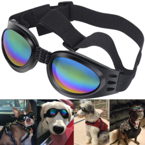 53f1ad51048 QUMY Dog Sunglasses Eye Wear Protection Waterproof Pet Goggles for Dogs  about over 15 lbs
